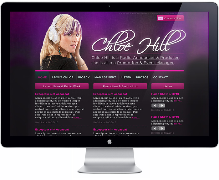 Chloe Hill Website