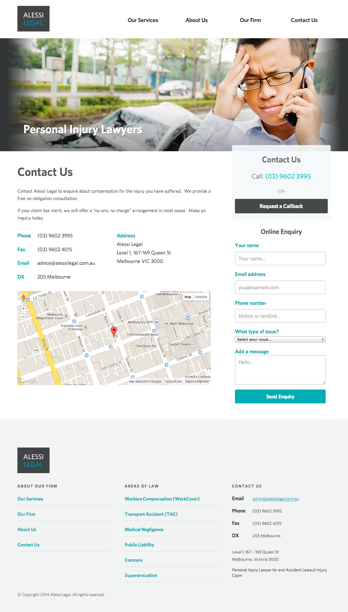 Alessi Legal website design gallery