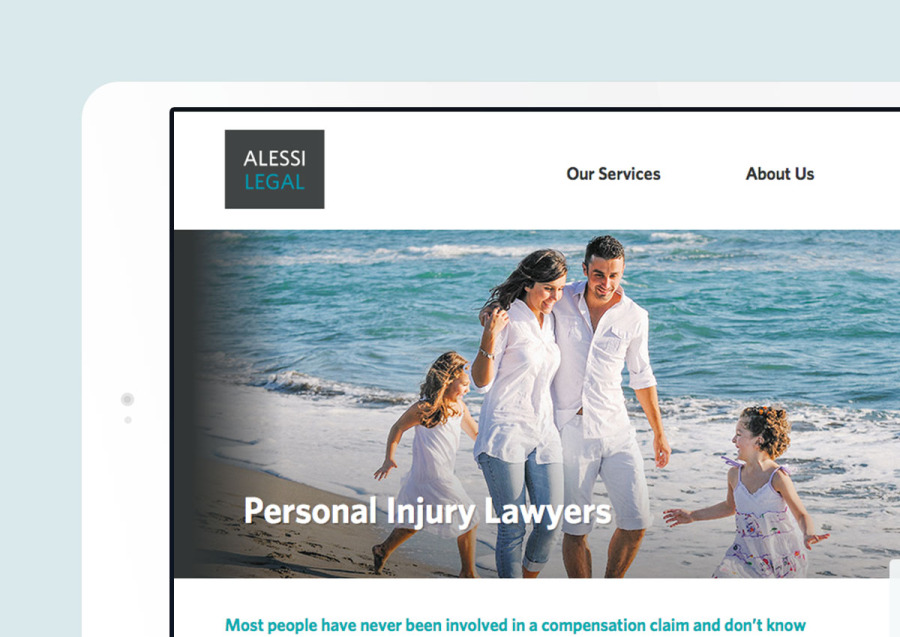 Alessi Legal website design